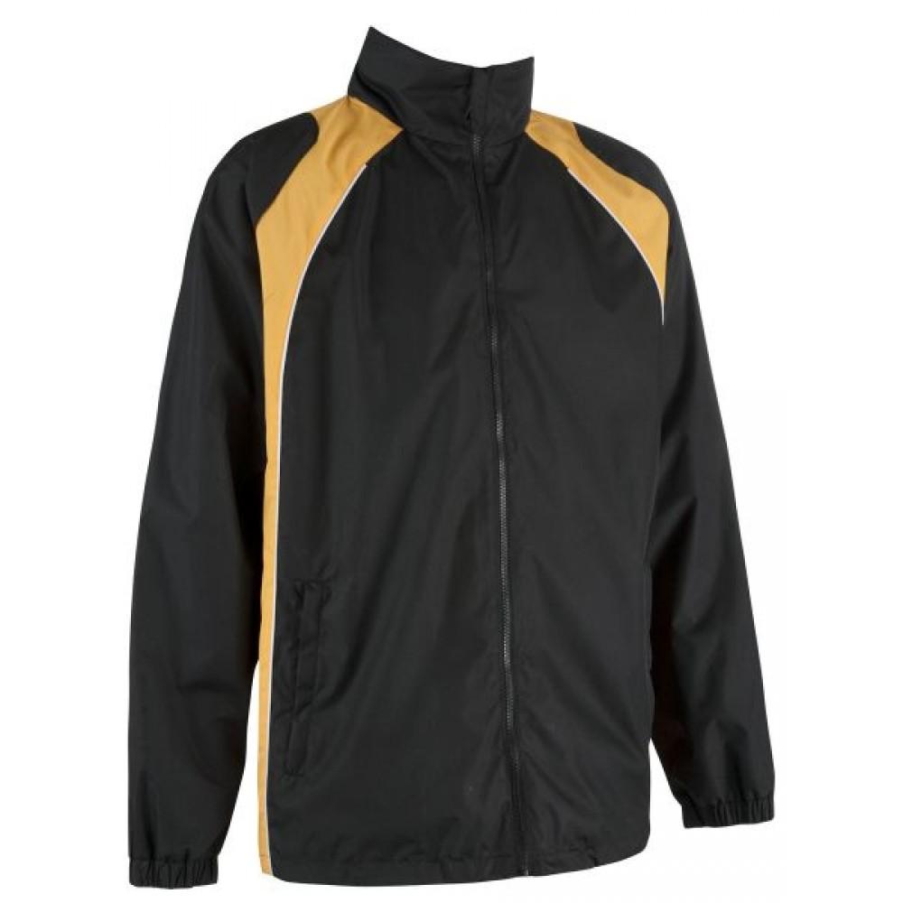 355 Elite Showerproof Black/Amber Jacket