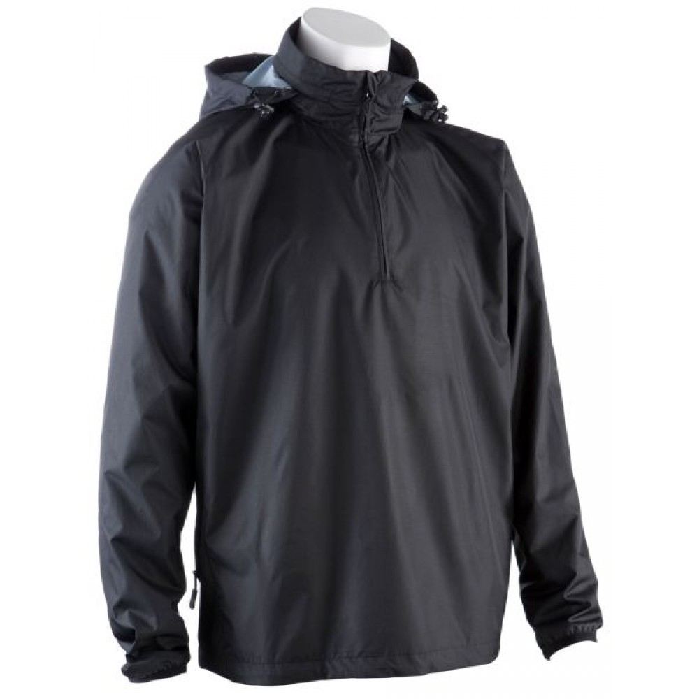0059 Waterproof Quarter Zip Jacket - Black