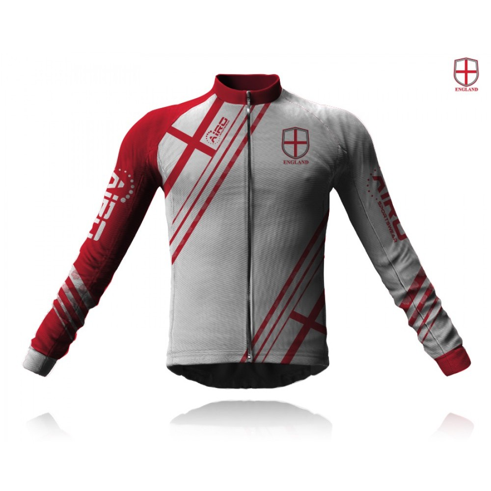Airosportswear Supporters - England Cycling Jersey Long Sleeve