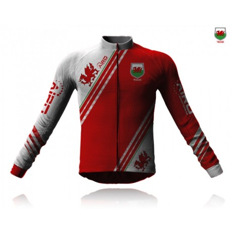 Airosportswear Supporters - Wales Cycling Jersey Long Sleeve