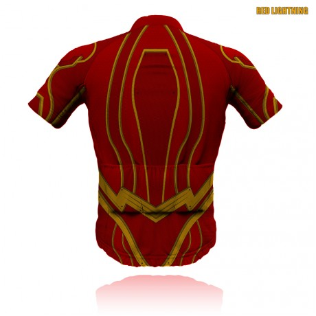 Red Lightning Cycling Jersey