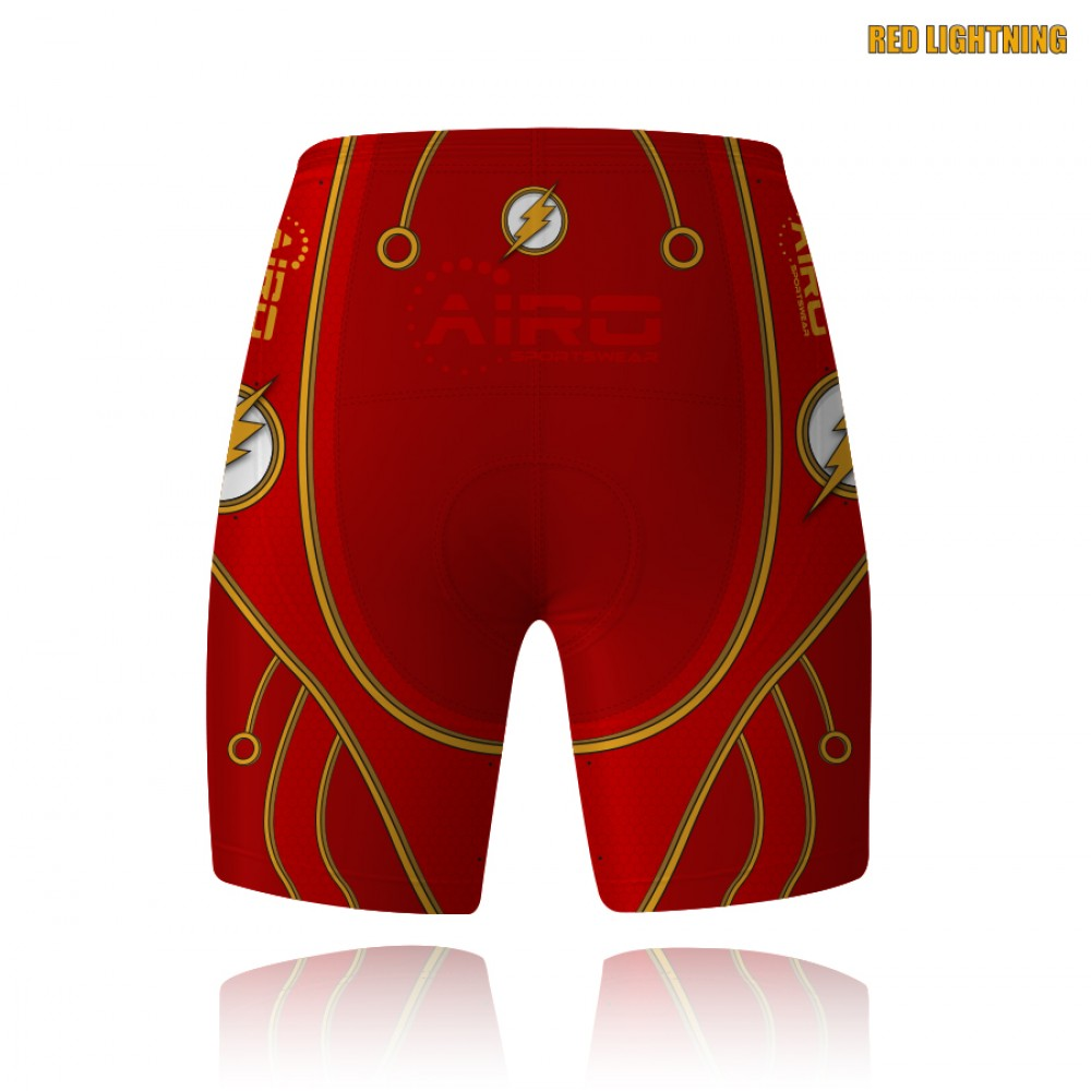 Red Lightning Cycling Shorts