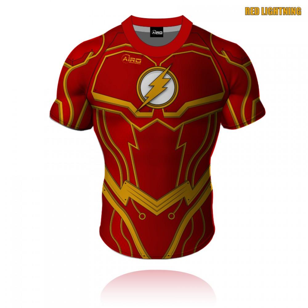Red Lightning Rugby Shirt