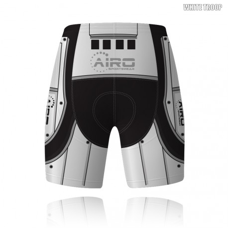 White Trooper Cycling Shorts