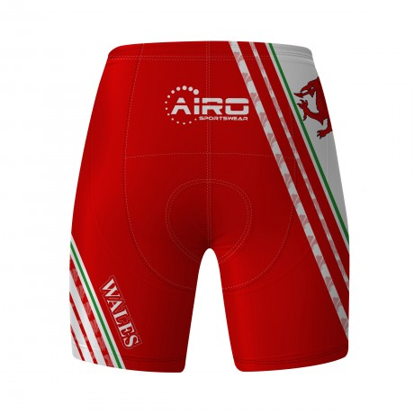 Airosportswear Supporters - Wales Cycling Shorts