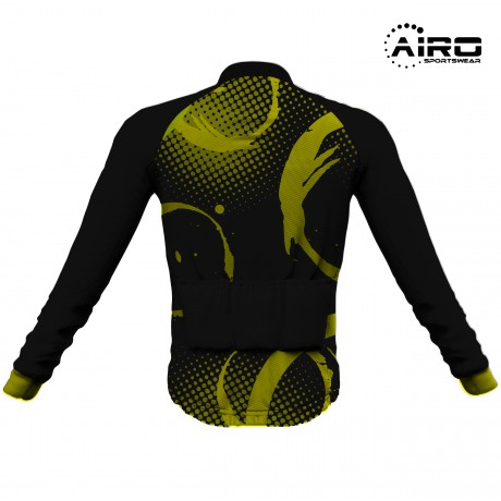 Airosportswear - Yellow Splatter Cycling Jersey