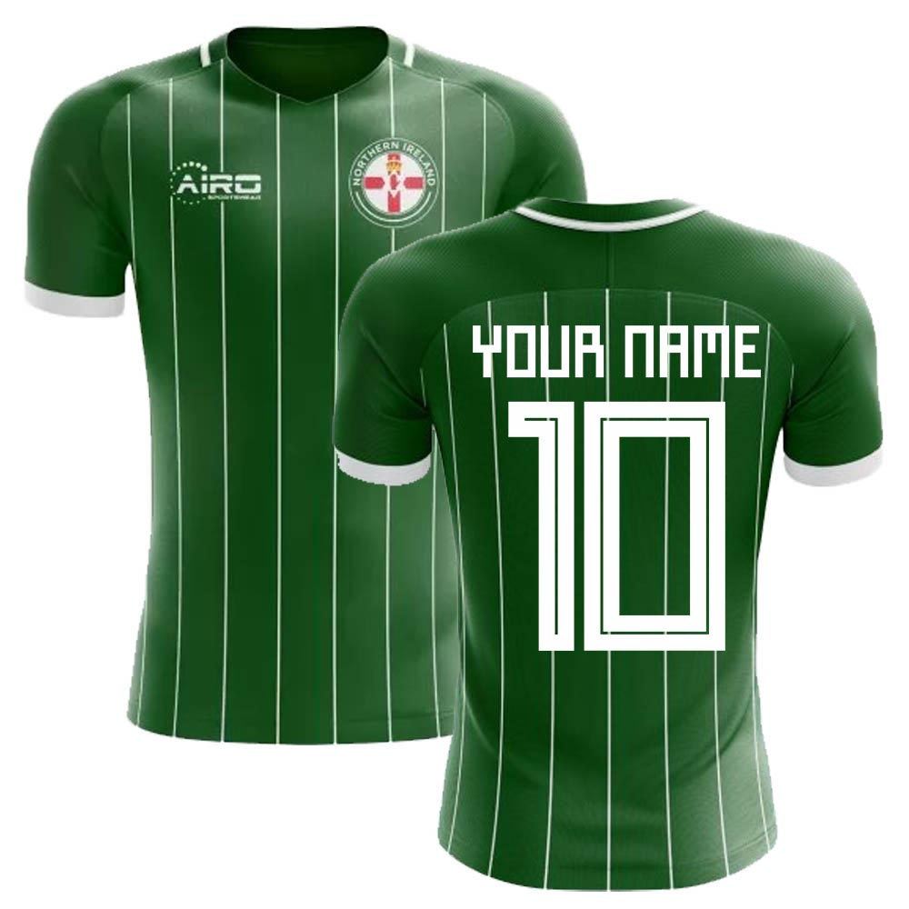 2020-2021 Northern Ireland Home Concept Football Shirt (Your Name)
