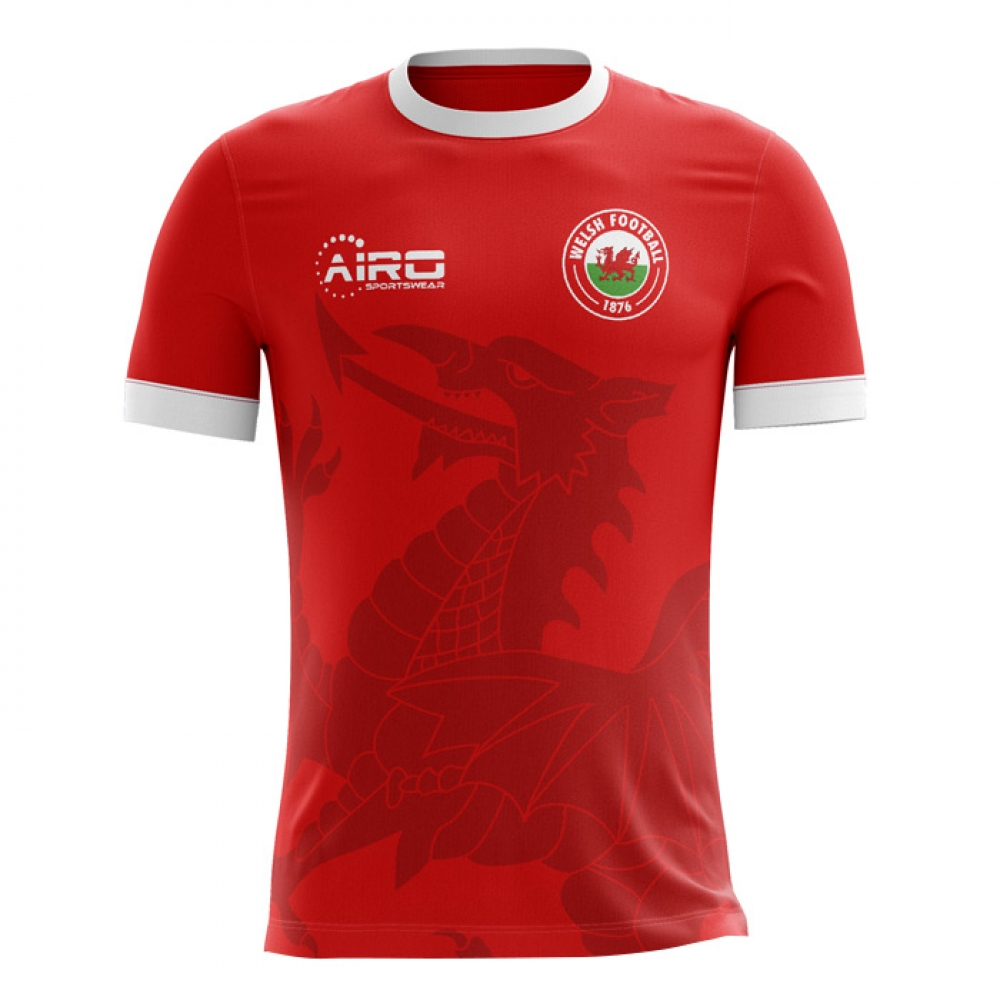 2018-2019 Wales Home Concept Football Shirt - Adult Long Sleeve