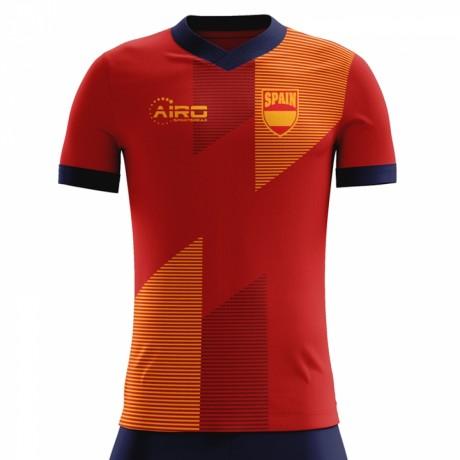2018-2019 Spain Home Concept Football Shirt