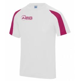 Airo Sportswear Contrast Training Tee (White-Pink)