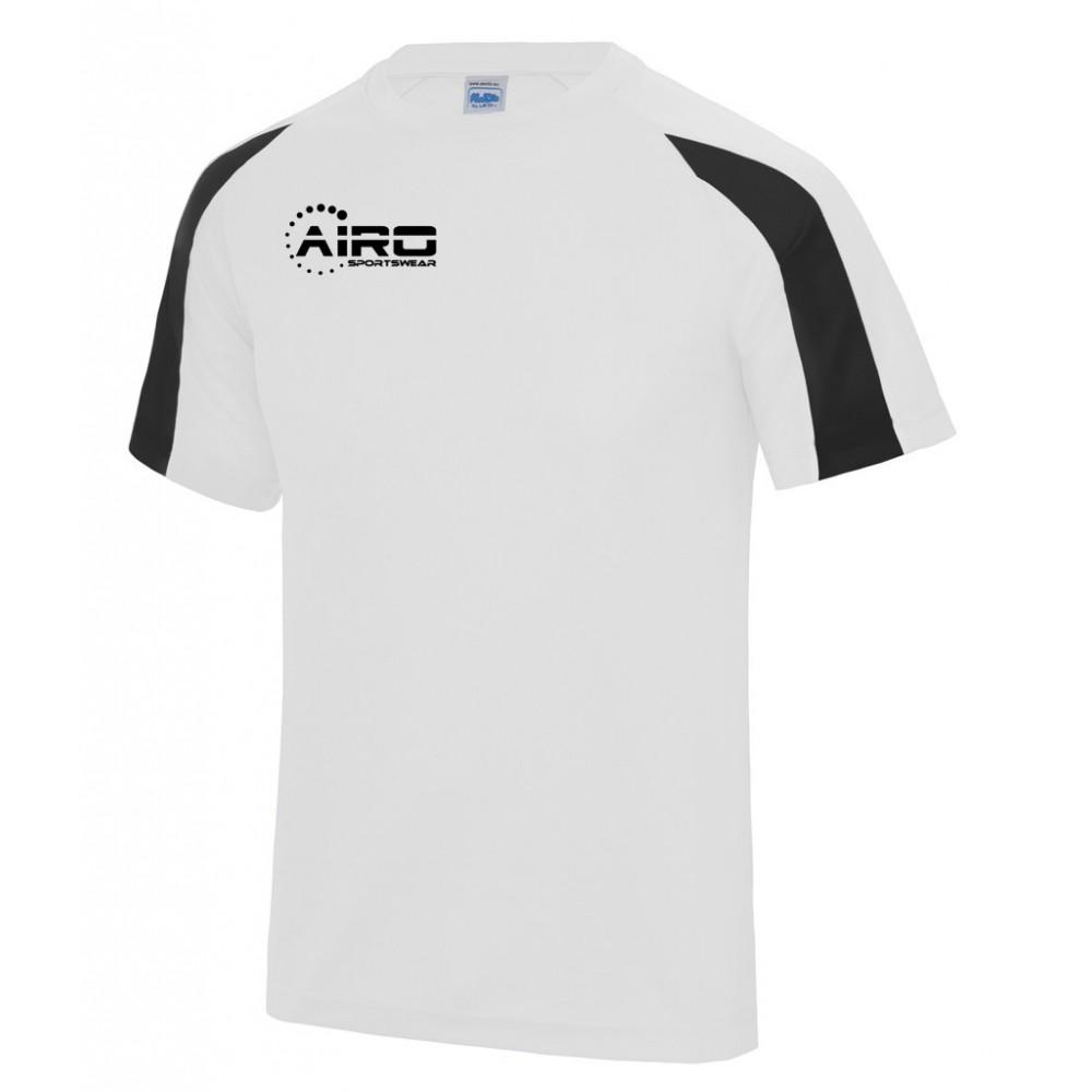 Airo Sportswear Contrast Training Tee (White-Black)