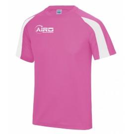 Airo Sportswear Contrast Training Tee (Pink-White)