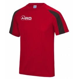 Airo Sportswear Contrast Training Tee (Red-Black)