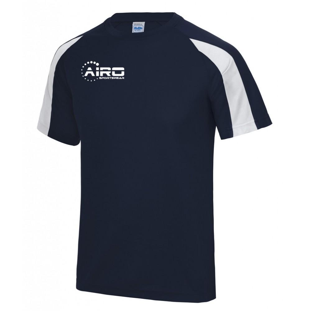 Airo Sportswear Contrast Training Tee (Navy-White)