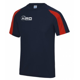 Airo Sportswear Contrast Training Tee (Navy-Red)