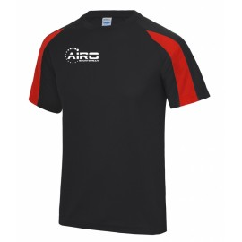Airo Sportswear Contrast Training Tee (Black-Red)