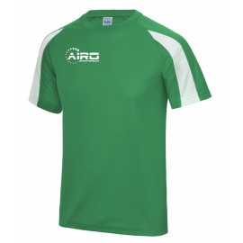 Airo Sportswear Contrast Training Tee (Green-White)