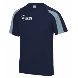 Airo Sportswear Contrast Training Tee (Navy-Sky)