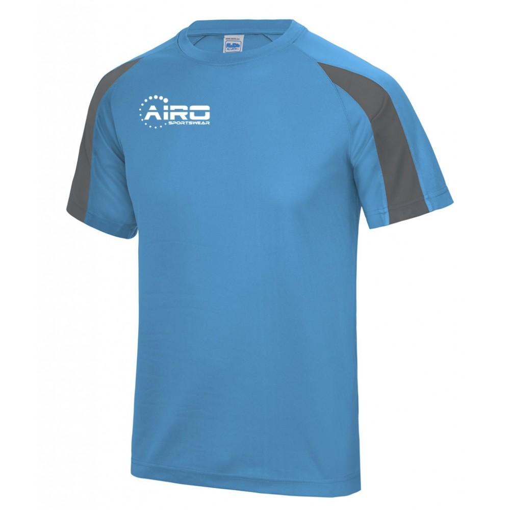 Airo Sportswear Contrast Training Tee (Sky Blue-Grey)
