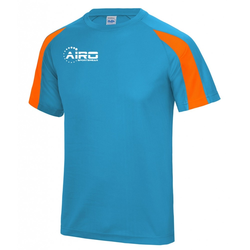 Airo Sportswear Contrast Training Tee (Sky Blue-Orange)