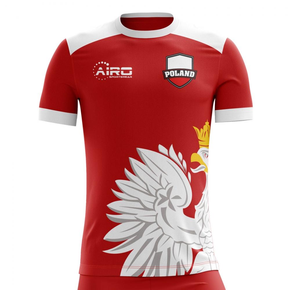 03c79f85e758 2018-2019 Poland Away Concept Football Shirt (Kids)