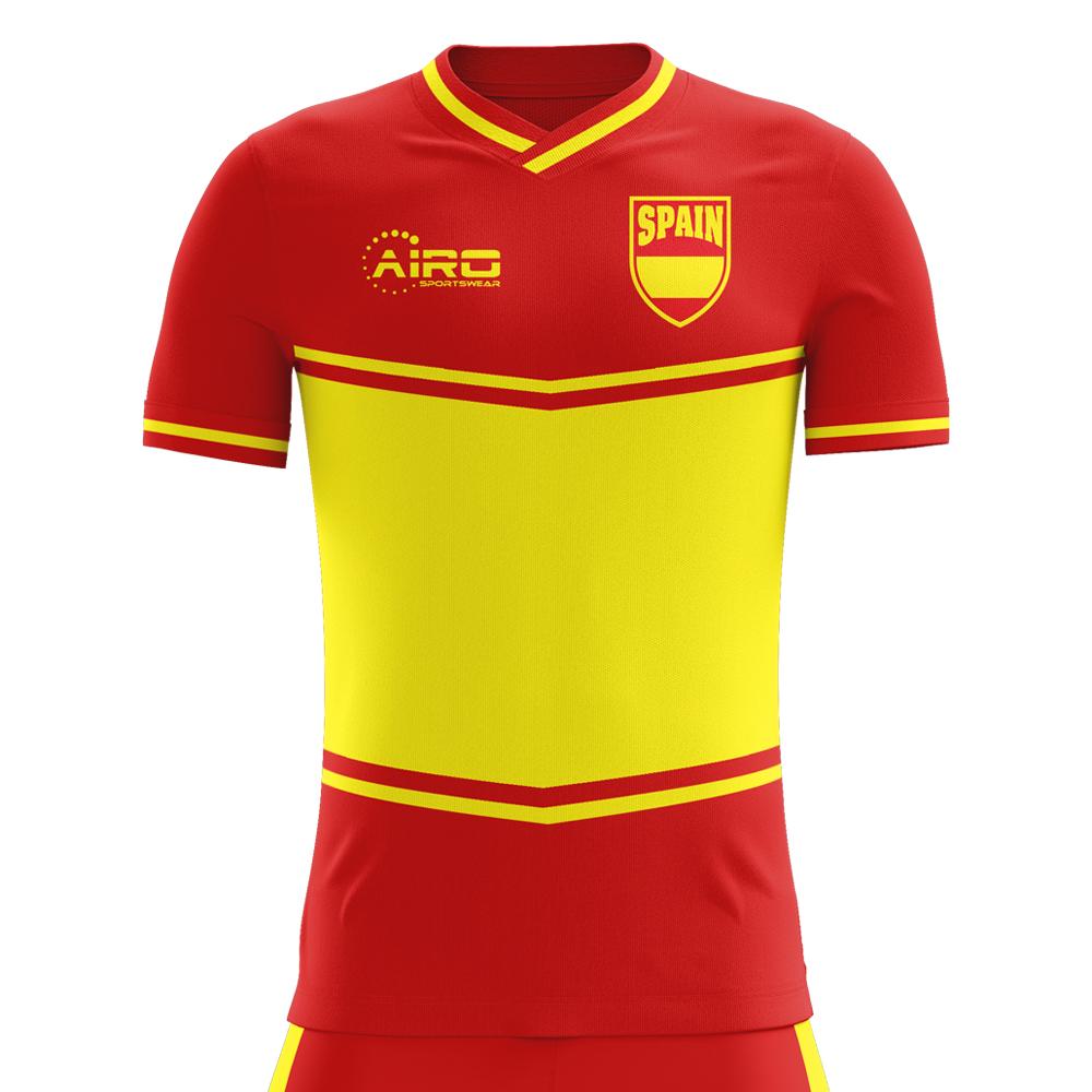 2018-2019 Spain Flag Home Concept Football Shirt (Kids)