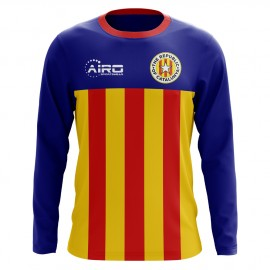 2018-2019 Catalunya Long Sleeve Home Concept Football Shirt (Kids)