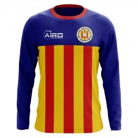 2020-2021 Catalunya Long Sleeve Home Concept Football Shirt (Kids)