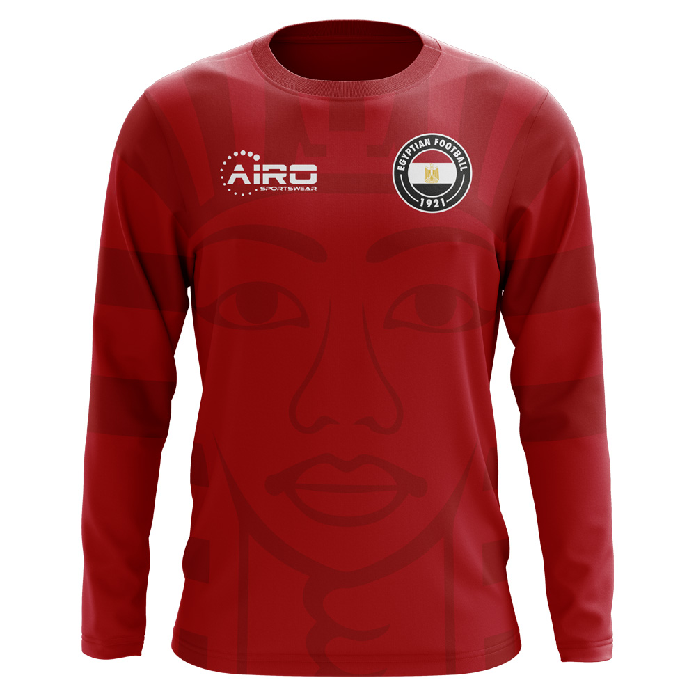 418943b18 2018-2019 Egypt Long Sleeve Home Concept Football Shirt (Kids)