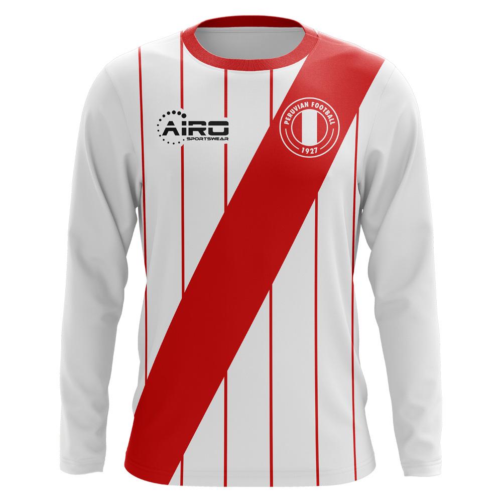 e0793afb532 2018-2019 Peru Long Sleeve Home Concept Football Shirt (Kids)