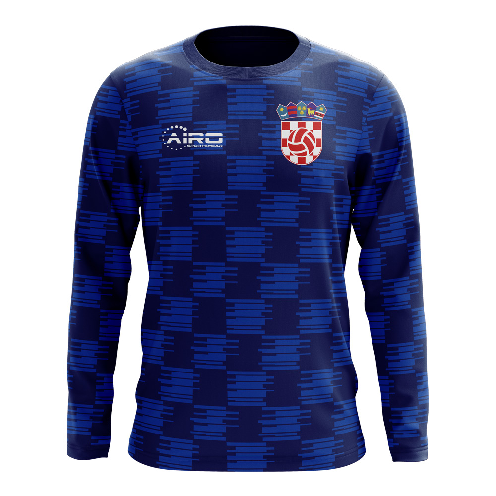 af8987e15 2018-2019 Croatia Long Sleeve Away Concept Football Shirt (Kids)