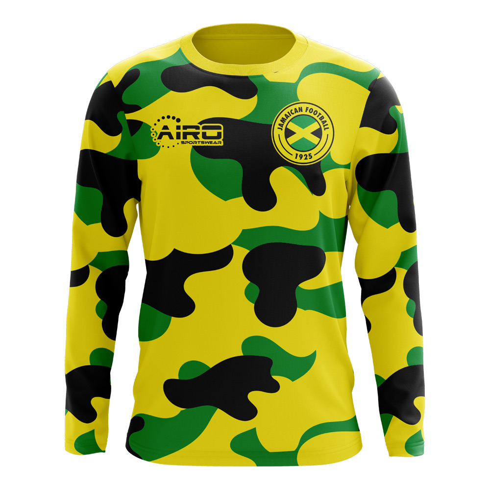5c00e5f16 2018-2019 Jamaica Long Sleeve Home Concept Football Shirt (Kids)
