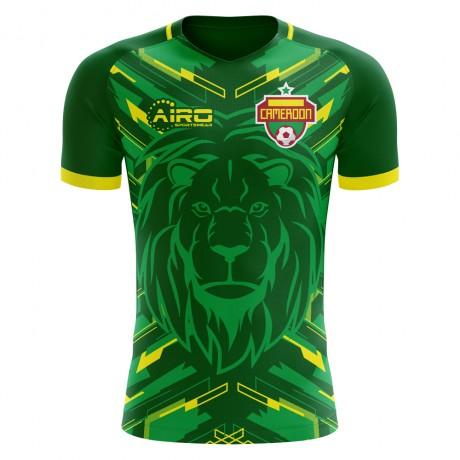 2018-2019 Cameroon Home Concept Football Shirt (Kids)