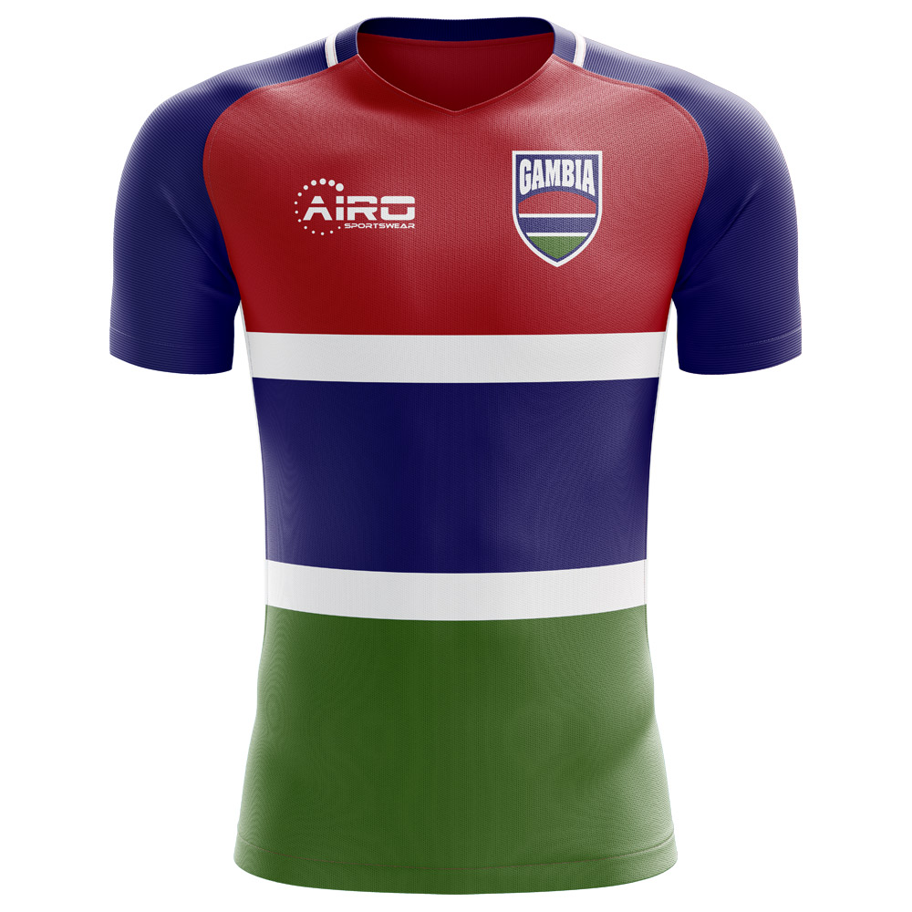 2c00353a559 2018-2019 Gambia Home Concept Football Shirt (Kids)