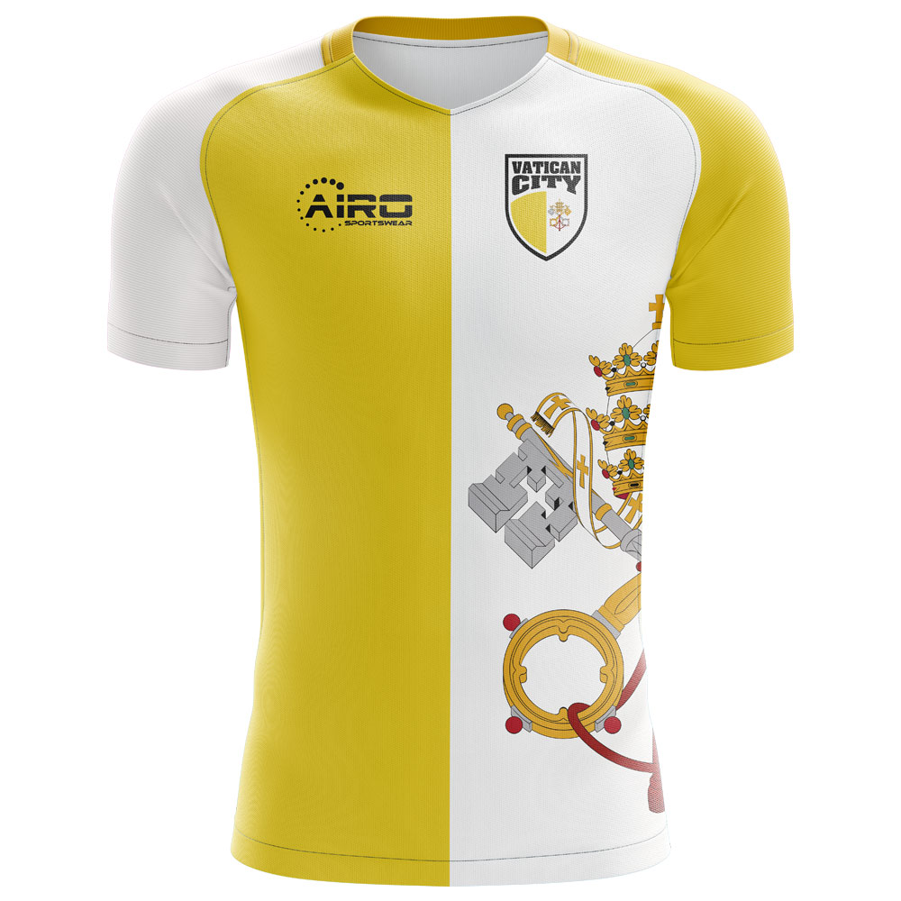 2018-2019 Vatican City Home Concept Football Shirt - Kids