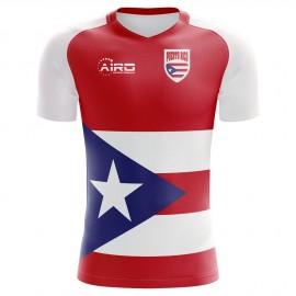 2018-2019 Puerto Rico Home Concept Football Shirt - Adult Long Sleeve