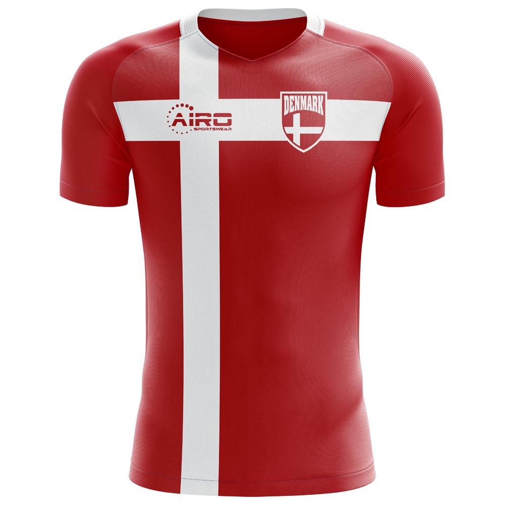 2018-2019 Denmark Flag Concept Football Shirt e918bfc09