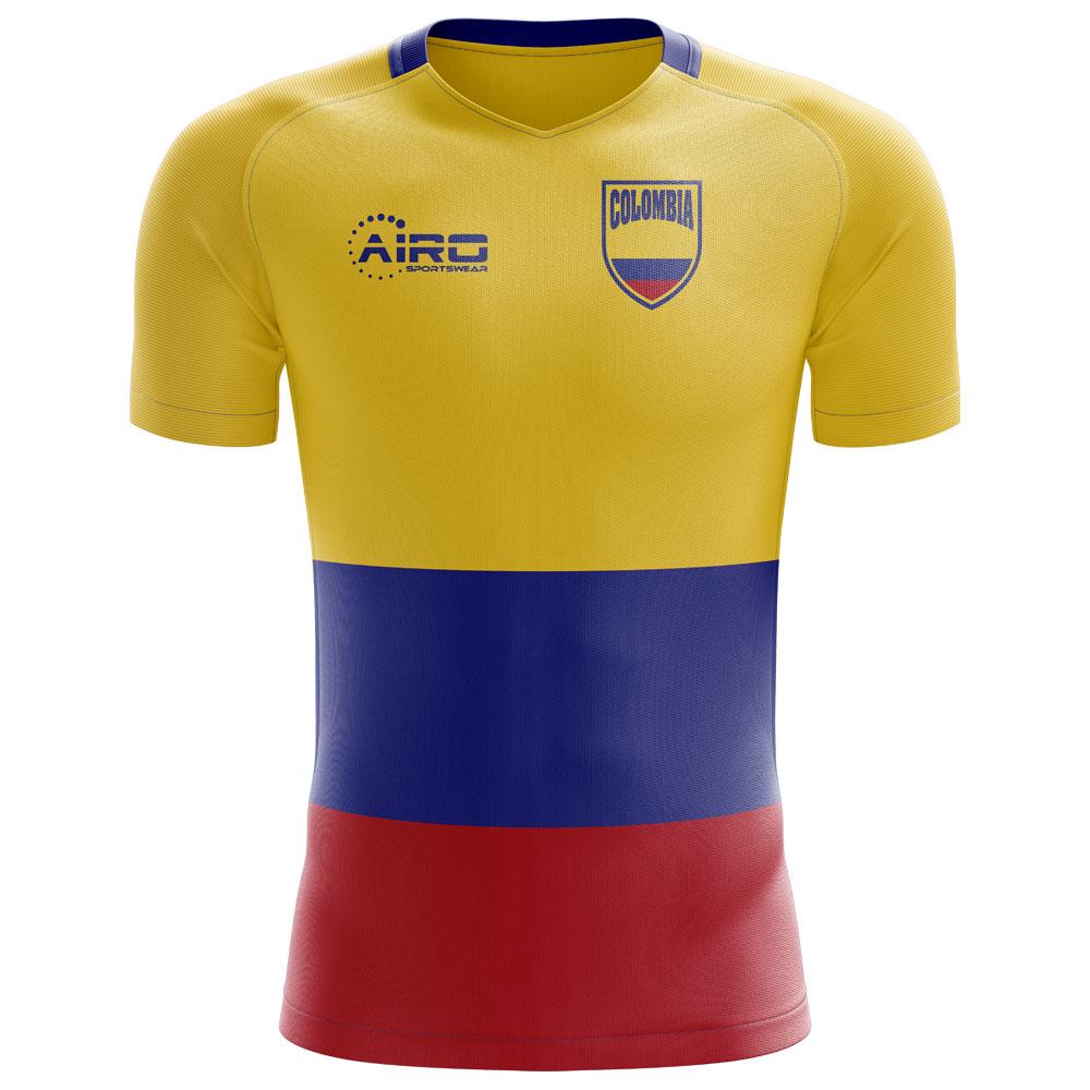 b13a6590bdd 2018-2019 Colombia Flag Concept Football Shirt