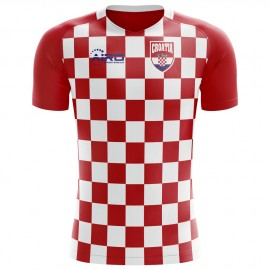 2018-2019 Croatia Flag Concept Football Shirt - Womens