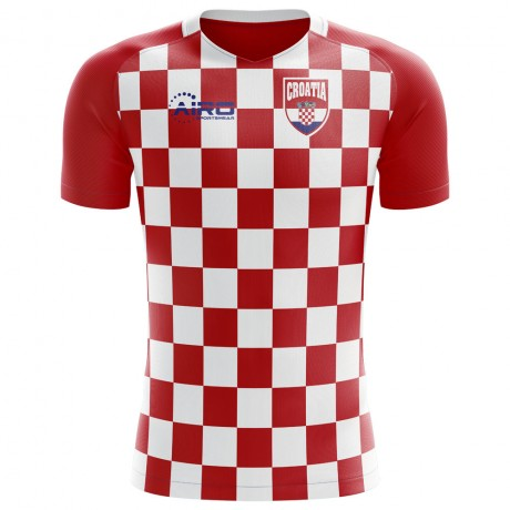 2018-2019 Croatia Flag Concept Football Shirt - Little Boys