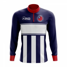 195f922f0 Taiwan Concept Football Half Zip Midlayer Top (Blue-White)