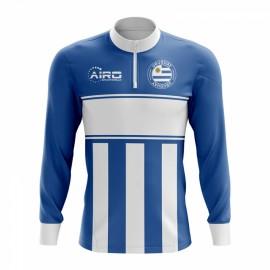 Uruguay Concept Football Half Zip Midlayer Top (Sky Blue-White)