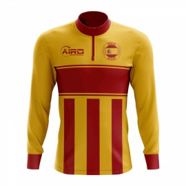 acfbc8378 Spain Concept Football Half Zip Midlayer Top (Yellow-Red)