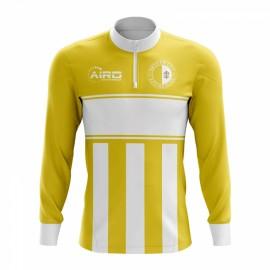 916ffb96e Vatican City Concept Football Half Zip Midlayer Top (Yellow-White)
