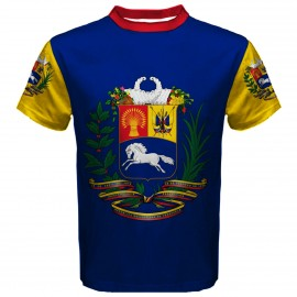Venezuela Coat of Arms Sublimated Sports Jersey - Kids