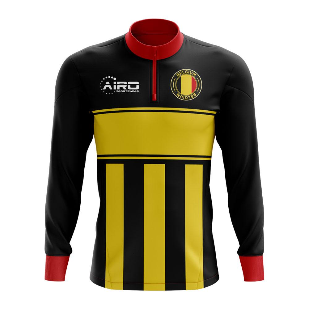 42dd7c44b Belgium Concept Football Half Zip Midlayer Top (Black-Yellow)