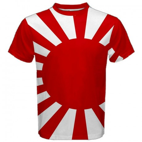 Japanese Samurai Flag Sublimated Sports Jersey