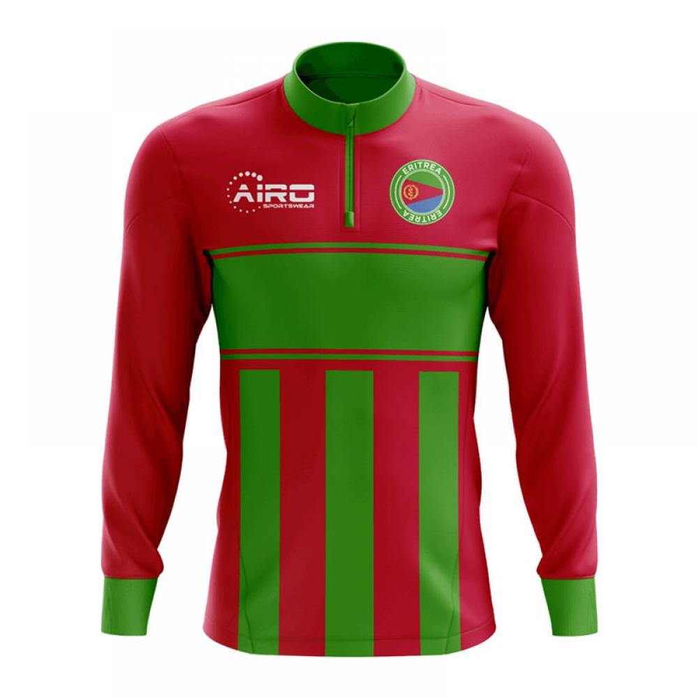 Eritrea Concept Football Half Zip Midlayer Top (Red-Green)