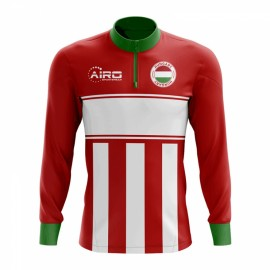 85cad70c27 Hungary Concept Football Half Zip Midlayer Top (Red-White)