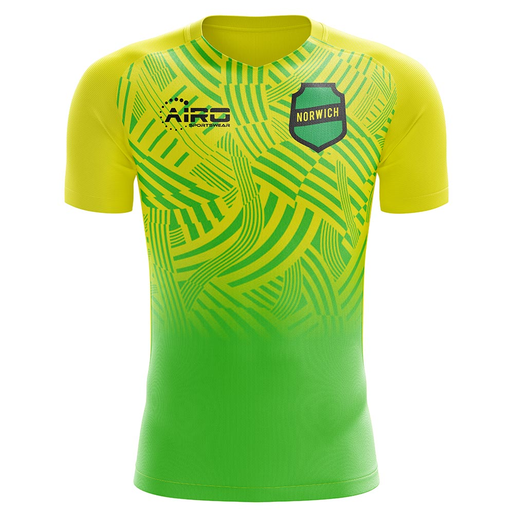 2020-2021 Norwich Home Concept Football Shirt